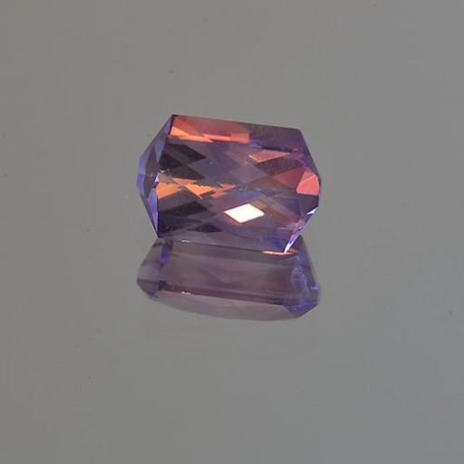 1.94 CTS Amethyst Rectangle CheckerBoard Cut Natural Loose Gemstone