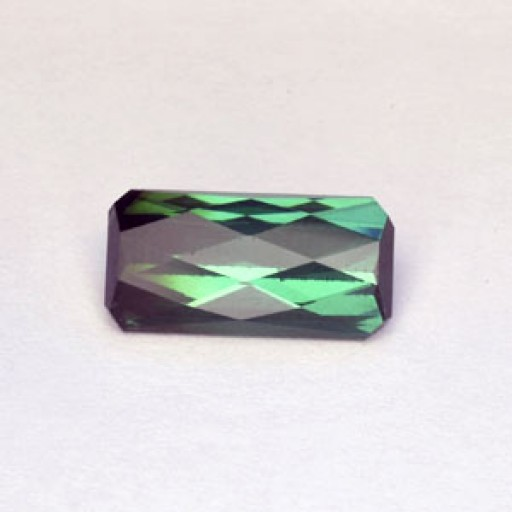 4.58 CTS Tourmaline Green Rectangle Checker Board Cut Natural Loose Gemstone