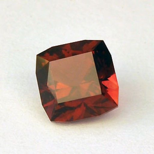 1.43 CTS Tourmaline Rubellite  Red Square Cushion Cut Natural Loose Gemstone