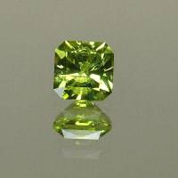 1.46 CTS Peridot Square Cushion Cut Natural Loose Gemstone