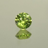 1.18 CTS Round Brilliant Cut Natural Peridot Loose Gemstone