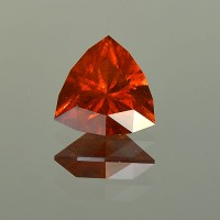 3.46 CTS Trillion Cut Natural Spessartite Garnet