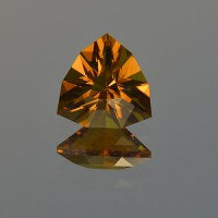 2.05 CTS Citrine Trillion Checkerboard Cut Natural Loose Gemstone