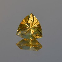 2.02 CTS Citrine Trillion Cut Natural Loose Gemstone