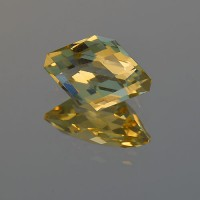 2.55 CTS Citrine Eye Shape Checkerboard Cut Natural Loose Gemstone