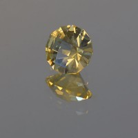 1.10 CTS Citrine Round Checkboard Cut Natural Loose Gemstone