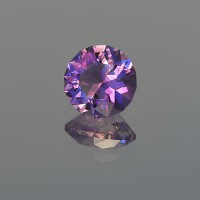 4.11 CTS Amethyst Round Brilliant Cut Natural Loose Gemstone