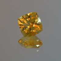 3.30 CTS Citrine Cushion Cut Natural Loose Gemstone