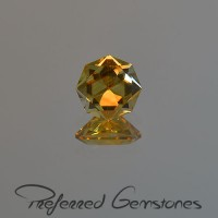 2.74 CTS Citrine Octagon Cut Natural Loose Gemstone
