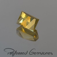 2.08 CTS Citrine Rectangle CheckerBoard Cut Natural Loose Gemstone