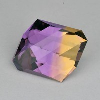 10.08 CTS Ametrine Fancy Square Cut Natural Loose Gemstone