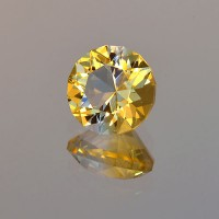 3.01 CTS Citrine Round Cut Natural Loose Gemstone