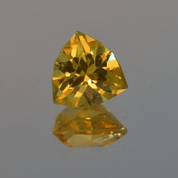 4.28 CTS Citrine Trillion Cut Natural Loose Gemstone