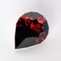 4.65 CTS Almandine Garnet Pear Checkerboard Cut Natural Loose Gemstone