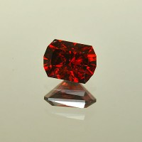 2.78 CTS Pyrope Red Garnet Rectangle Cut Natural Loose Gemstone