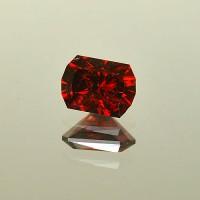 2.78 CTS Pyrope Red Garnet Rectangle Cut Natural Loose Gemstone