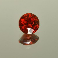 3.36 CTS Almandine Red Garnet Round Cut Natural Loose Gemstone