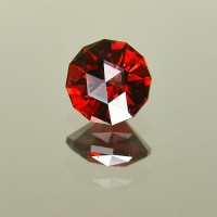 2.11 CTS Almandine Red Garnet Round Checkerboard Cut Natural Loose Gemstone