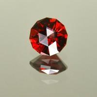 2.11 CTS Almandine Red Garnet Round Checkerboard Cut Natural Loose Gemstone