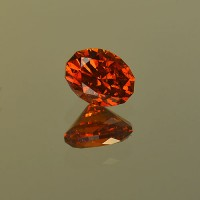 1.70 CTS Spessartite Oval Cut Natural Loose Gemstone