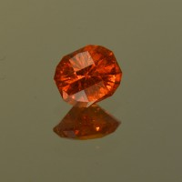 1.75 CTS Spessartite Recatangle CheckerBoard Cut Natural Loose Gemstone