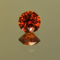1.50 CTS Spessartite Round Brilliant Cut Natural Loose Gemstone