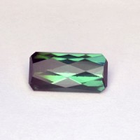 4.58 CTS Tourmaline Green Rectangle Checker Board Cut Natural Loose Gemstone