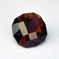 2.20 CTS Tourmaline Rubellite Red Square Cushion Checker Board Cut Natural Loose Gemstone