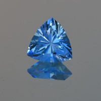 3.19 CTS Topaz Electric Blue Trillion Cut Loose Gemstone